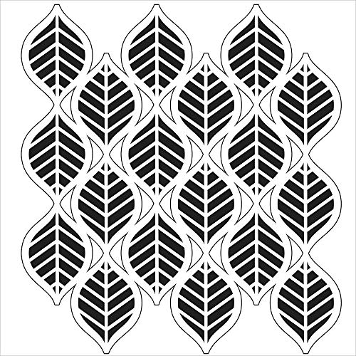 CRAFTERS WORKSHOP TCW-450 Template, 12 by 12-Inch, Art Deco Leaves
