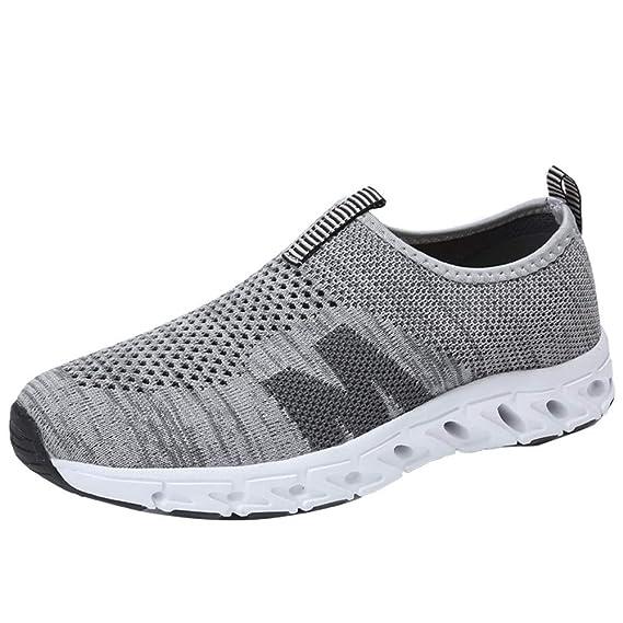 JiaMeng Zapatillas Hombres Mujer Deporte Running Zapatos para Correr Gimnasio Sneakers Deportivas cómodas al Aire Libre de Malla Transpirable cómodas ...