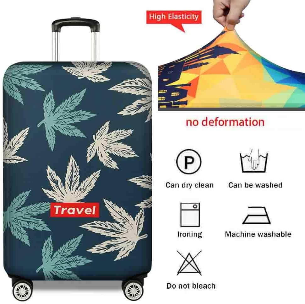 Suitcase Cover Elastic Travel Case Dustproof Anti-Theft Luggage Case Jacket Thick Wear-Resistant Protective Cover 18-32 Inches