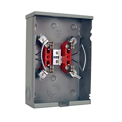 milbank 125 amp ringless single phase 120 240 meter socket rh amazon com Breaker Box Electrical Panel