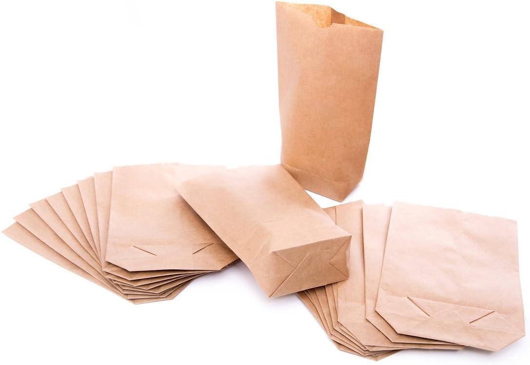 10 BRAUNE natur Kreuzbodenbeutel Geschenkt/üten Papiert/üten Papier-Beutel 19,5 x 29,5 x 7,5 cm Kraftpapier 1a-QUALIT/ÄT Verpackung Geschenkpapier Obst-T/üten Bio-T/üten Geschenke Mitgebsel Give-away