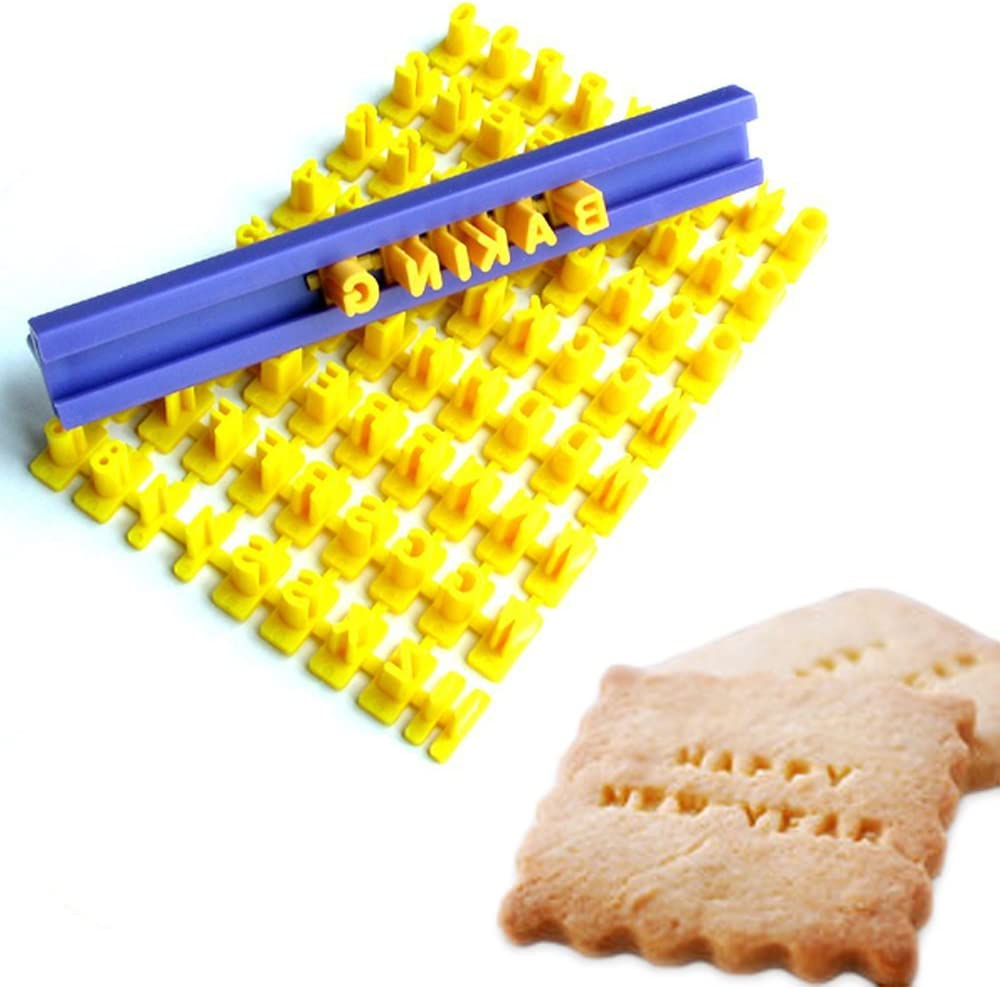Tool Gadget Cookie Stamps, Numbers Alphabet Stamps for Cookie Chocolate, 72pcs, 100% BPA free