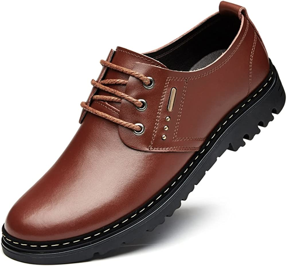 Mens Shoes in Summer and Autumn//Business Casual Shoes//Mens Leather Casual Shoes//Mens Breathable Shoes of England//Male Hole Shoes