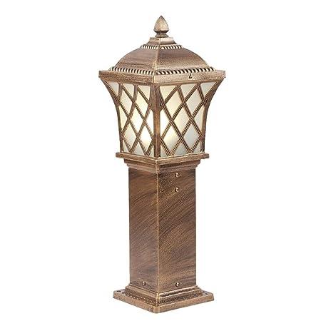 Lámpara de pie para salón Exterior Vista al jardín Luz del césped Villa Patio Lámpara de