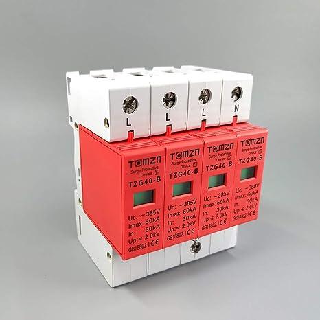 AC SPD 1P+N 20KA~40KA C ~385V House Surge Protector protection Protective Low-v