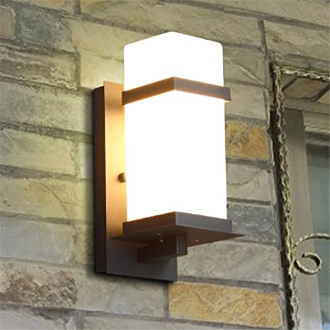 YU-K Casa moderna decoración interior apliques apliques de pared exterior impermeable de luces led creativas ...