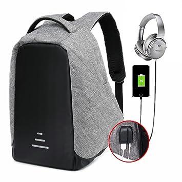 Mochila Portátil para Hombres Mochila para Computadora Portátil Multiusos Daypacks con Puerto de Carga USB para