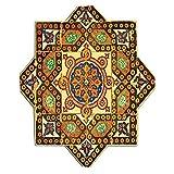 Kisscase Custom Blanket Arabian Vintage Floral Geometrical Pattern with Turkish Ottoman Calligraphic Art Style Old Boho Print Bedroom Living Room Dorm Multi