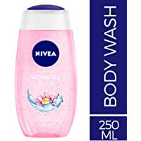 NIVEA Waterlilly & Oil Shower Gel, 250ml with care oil pearls and waterlily scent