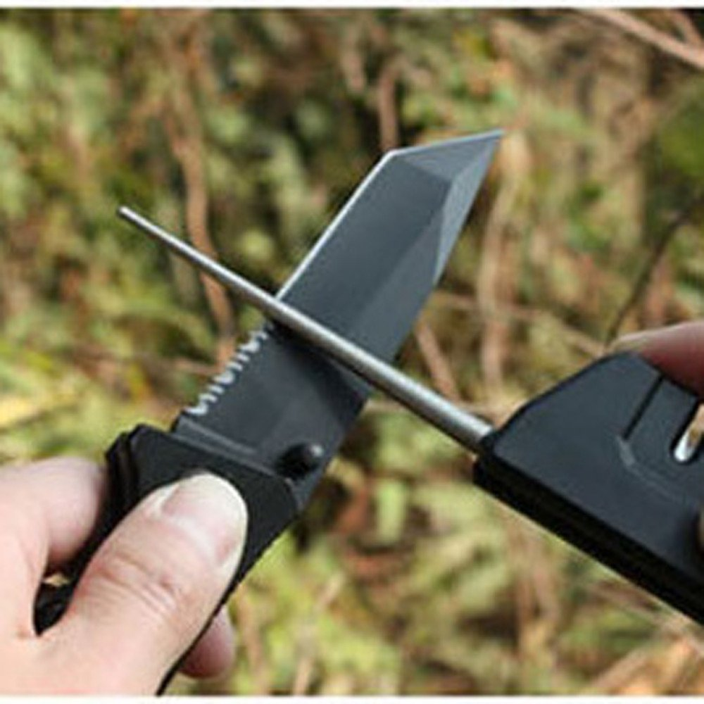 Doreleven 4 In 1 Plate Sharpener Stone Grinding Polishing Whetstone Grinding Outdoor Tool