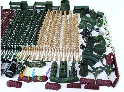 610pcs 5CM Nostalgic Military Soldier Figure Playset Kids Toys ()