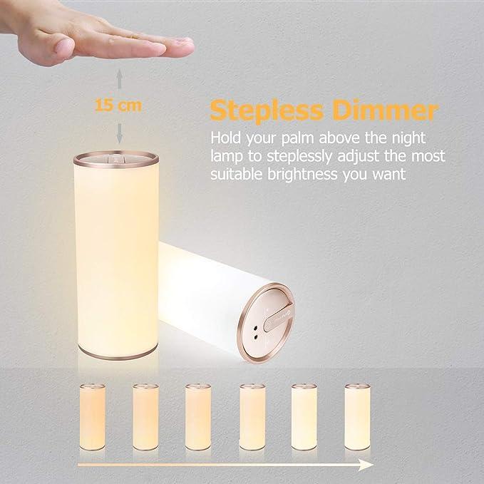1 Stück Yunlights Tischlampe Led Nachttischlampe Mit Gestensensor