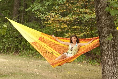 Breezy Point Mayan Mexican Nylon Jumbo Hammock