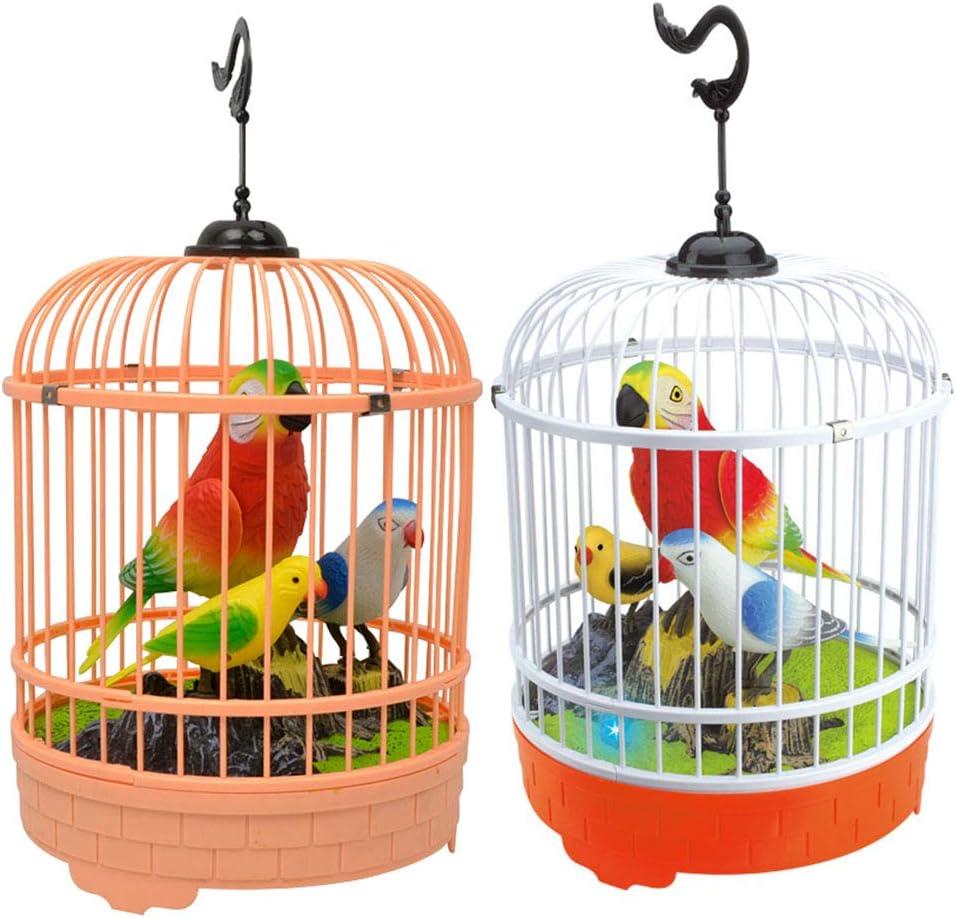 YeahiBaby Juguete de Jaula de Pájaros Juguete Sonidos y Movimientos Realistas Activados Color Aleatorio
