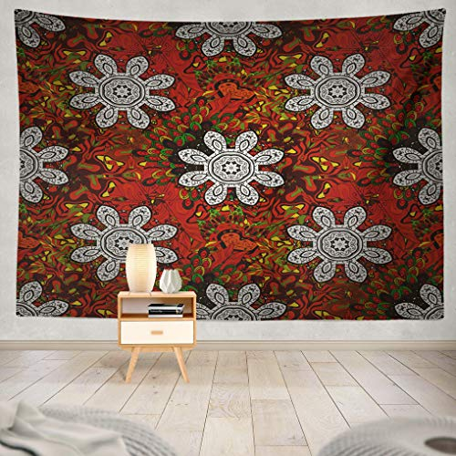 rative Ornate Colored Mandala Tattoo Yoga Boho Hanging Tapestries 60 x 80 inch Wall Hanging Decor for Bedroom Livingroom Dorm ()