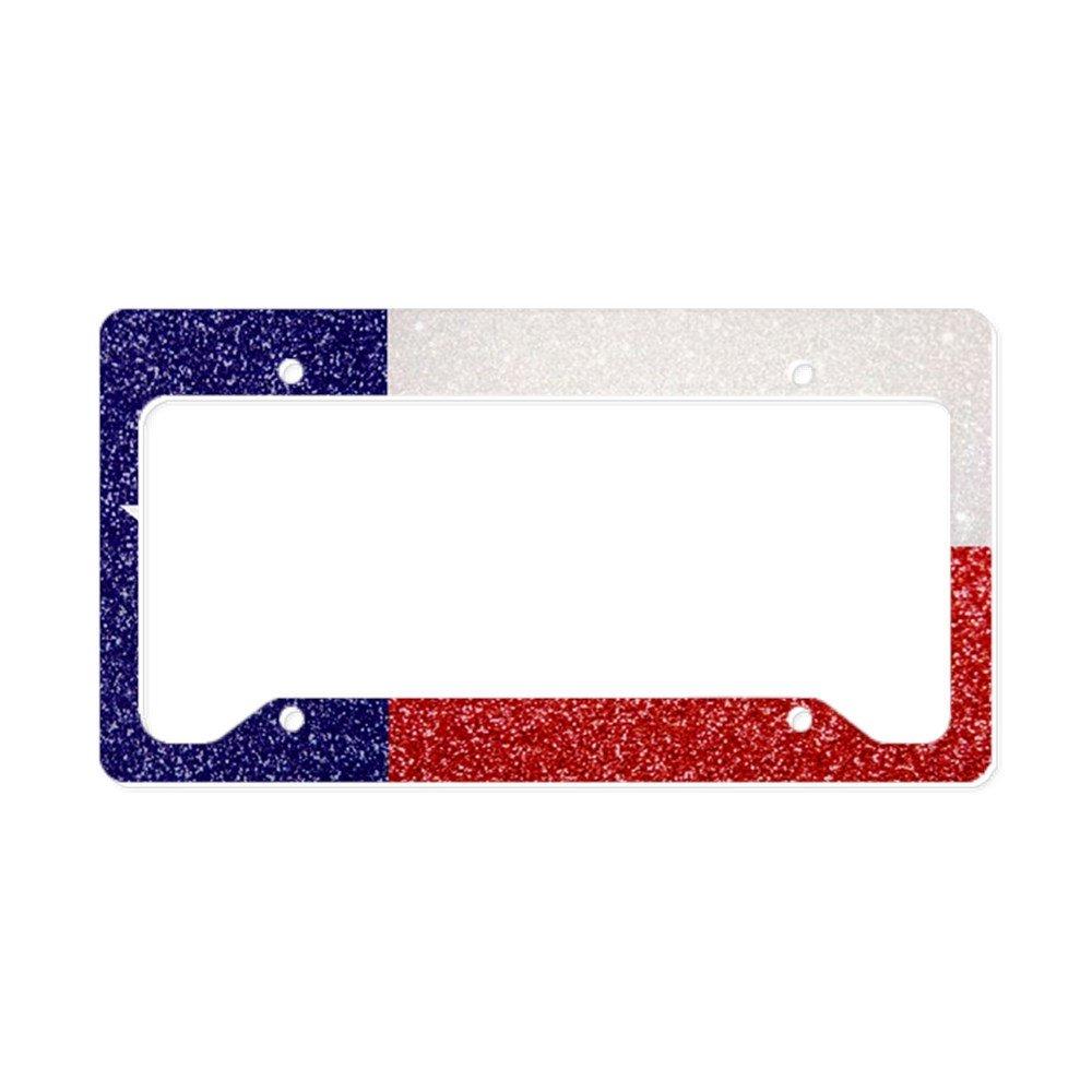 CafePress – Glitzer Texas Flagge – Aluminium Nummernschild Rahmen ...