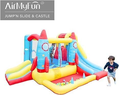 AirMyFun Casa Inflable, Castillo rebotador con soplador de Aire ...