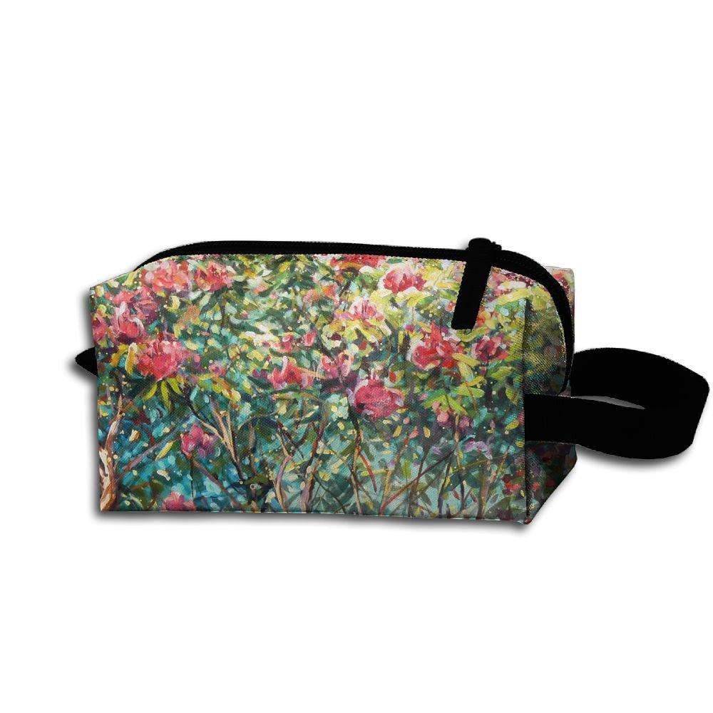 メイクアップコスメティックバッグ花と木Love Medicine Bag Zip旅行ポータブルストレージポーチforメンズレディース B07DWL912P