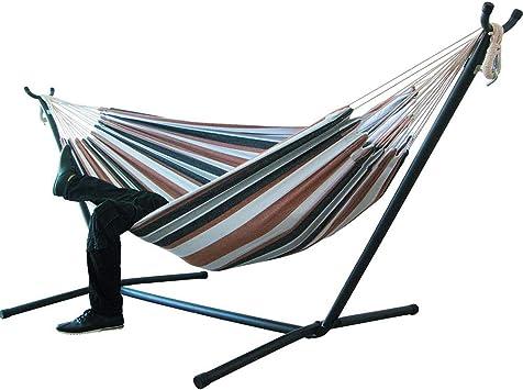 SHUAI Hamaca Doble, Hamacas Colgantes Jardin al Aire Libre Cama Portátil de Lona con Cuerdas para Acampar Capacidad de 200kg, para Jardín Patio Trasero Playa Mochileros: Amazon.es: Deportes y aire libre