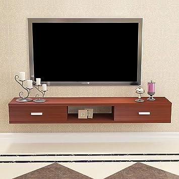 Mueble TV de pared Estante de la pared Estante flotante Con cajon Set top box enrutador