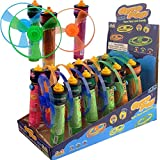 Kidsmania Gyro Flyers with Candy Pop, Peach/Green Apple/Strawberry, 12 Count