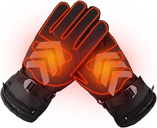 Cold Weather Hand Warmer Waterproof Snow Gloves for Winter Skiing Snowboard Hiking Cycling CLISPEED Electric Heated Gloves for Men Women Touchscreen Compatible