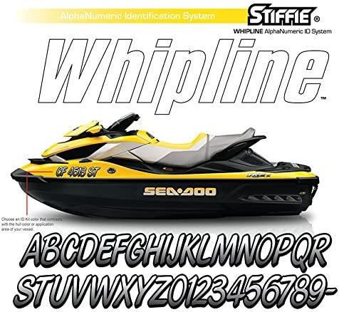 Stiffie Whipline Atomic Green//Navy 3 Alpha-Numeric Registration Identification Numbers Stickers Decals for Boats /& Personal Watercraft