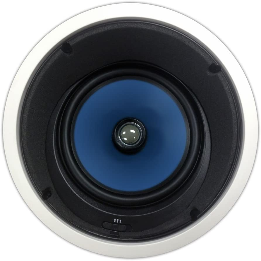 82AC Silver Ticket in-Ceiling Speaker with Pivoting Tweeter & Angled Woofer (8 Inch Angled in-Ceiling) 61m2BLUtLP2BL