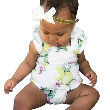 837823830 Kaiki Baby Girls Lemon Printed Rompers
