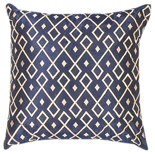 KAS Oriental Rugs PILL20320SQ Diamonds 100% Polyester Embroidered Pillow, 18