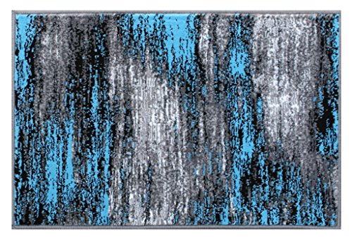 Masada Rugs, Modern Contemporary Mat Area Rug, Blue for sale  Delivered anywhere in USA