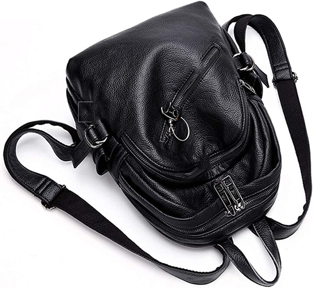 / Black Womens Fashion Wild Large-Capacity Soft Leather Bag 251230cm ZHML Backpack Leisure Bag Travel Bag Crossbody Bag