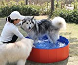 Fuloon Dog Paddling Pool PVC Portable Foldable Dogs Cats Bathing Tub Bathtub Wash Tub Pet Swimming Pool Water Pond