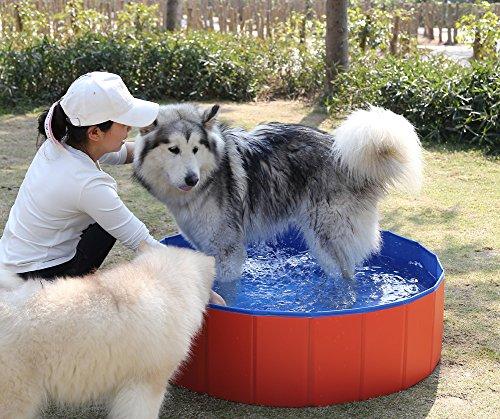Fuloon PVC Portable Foldable Dogs Cats Bathing Tub Bathtub Wash Tub Pet Swimming Pool Water Pond