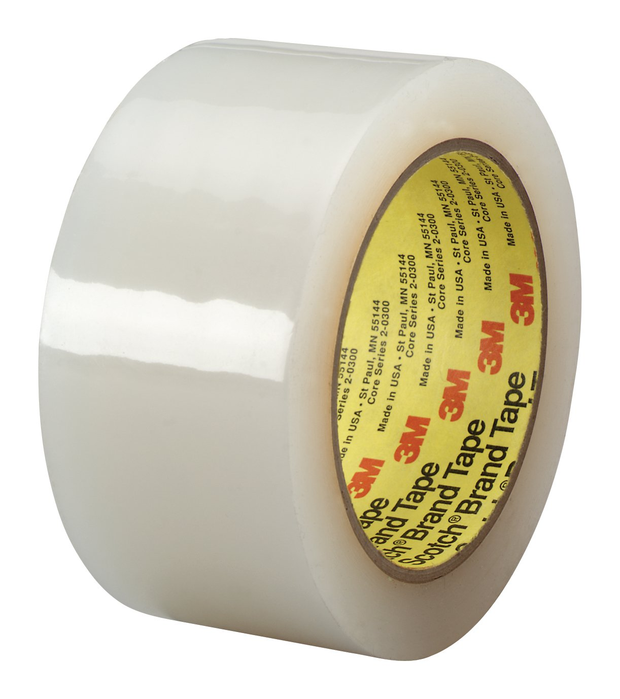 3M Polyethylene Film Tape 483 Transparent, 1 in x 36 yd 5.3 mil, Conveniently Packaged (Pack of 1)
