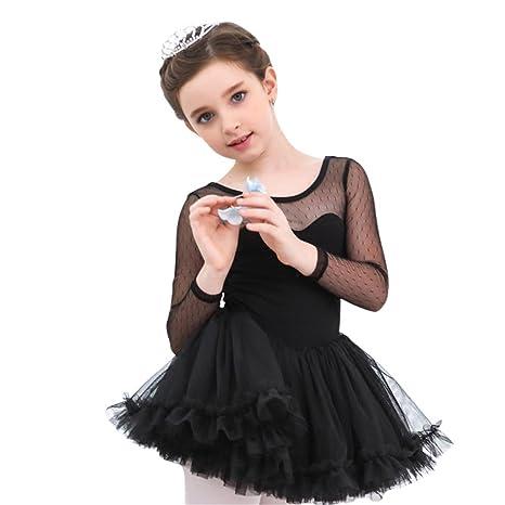 Moresave - Vestido de mangas largas de ballet para niñas, con falda de