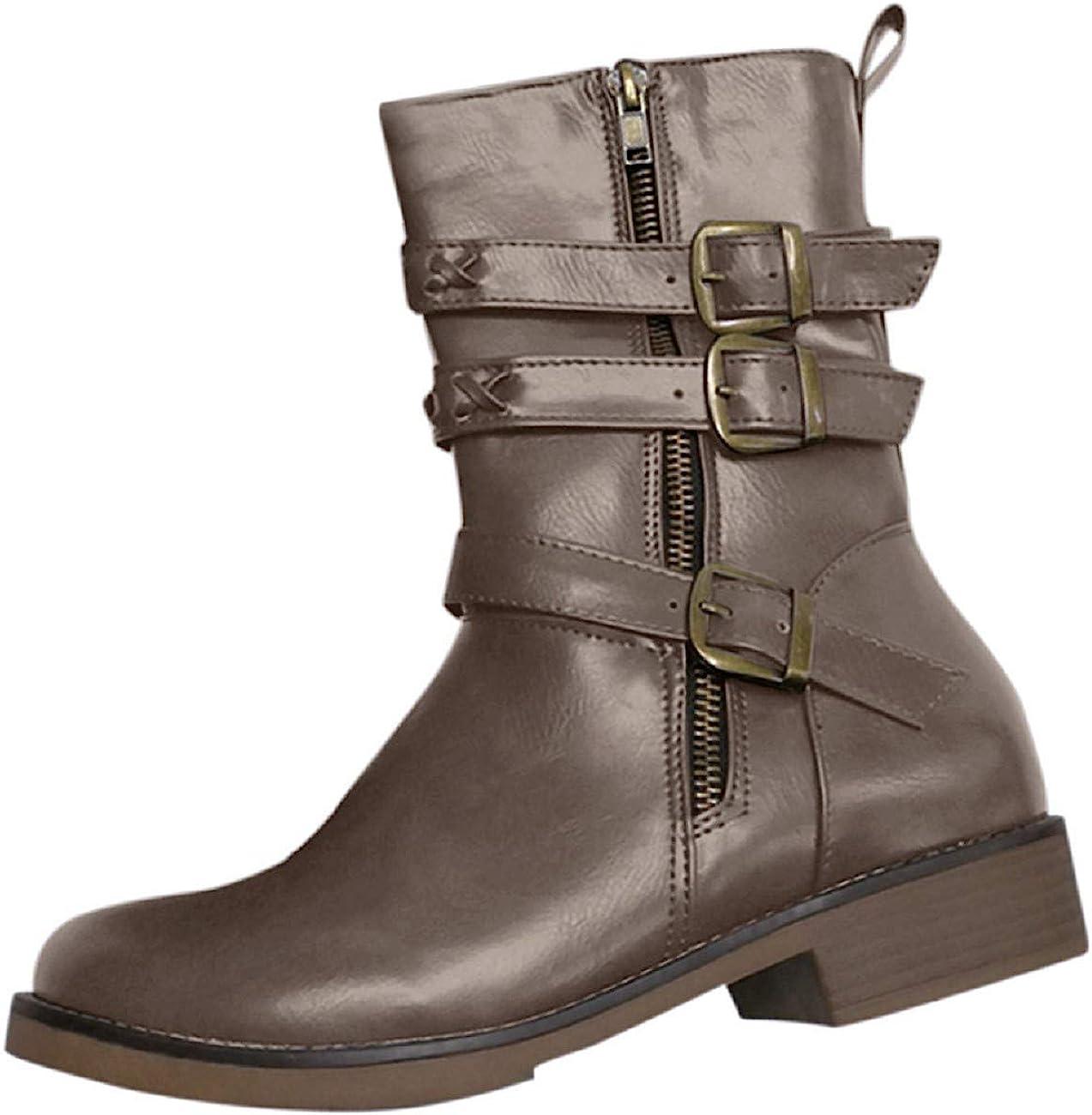 Heel Combat Waterproof Cowgirl Boots
