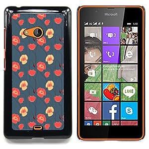 - floral blue red pink wallpaper native - - Modelo de la piel protectora de la cubierta del caso FOR Microsoft Nokia Lumia 540 N540 RetroCandy