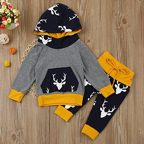 Overdose Baby Boys Girls Outfits Long Sleeve Hooded Tops Pants