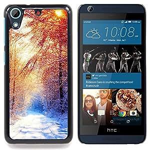 - Beautiful Winter Forrest - - Cubierta del caso de impacto con el patr??n Art Designs FOR HTC Desire 626 & 626s Queen Pattern