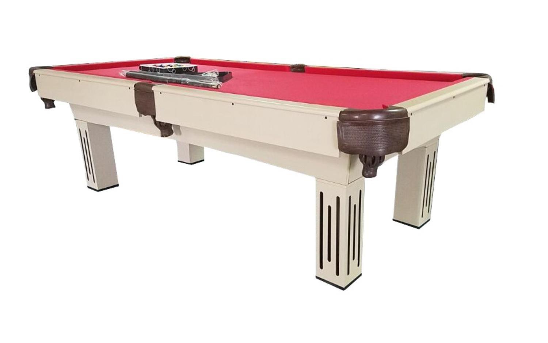 プール中央ビリヤードとプールゲームテーブル 8' x 4.3' POOL CENTRAL KBP-8003-8 B01NBCR8ES Beige/ Brown/Red 8' x 4.3'