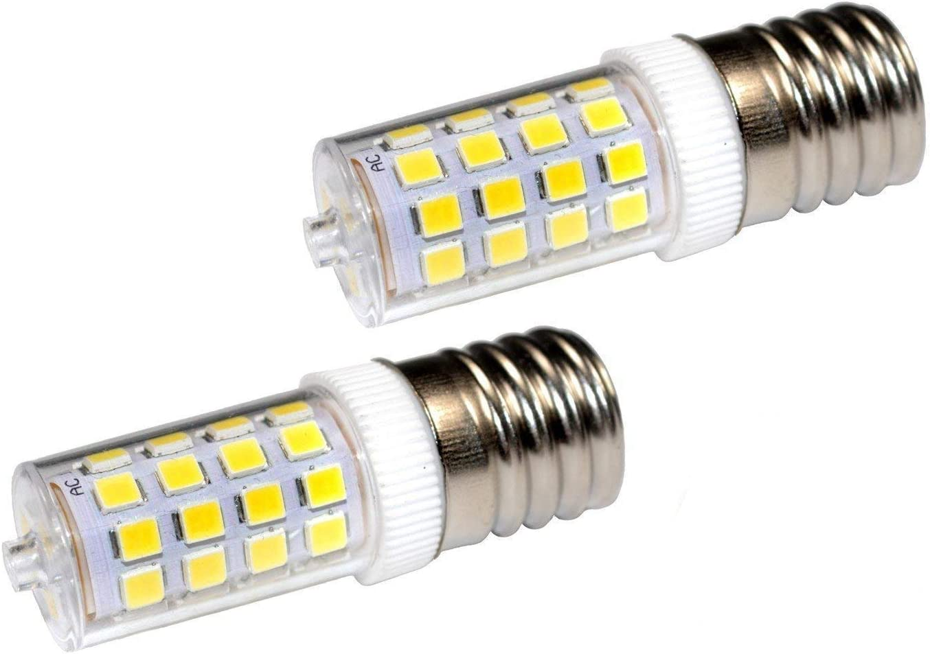 HQRP 2 piezas 220V E17 LED Bulbo Regulable Blanco Frio compatible con LG 6912W1Z004B Bombilla de microondas Reemplazo, HQRP Portavasos