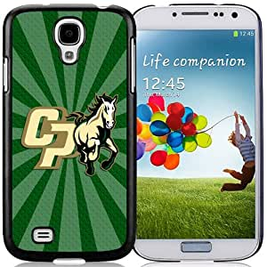 Beautiful Designed With NCAA Big Sky Conference Football Cal Poly Mustangs 7 Protective Cell Phone Hardshell Cover Case For Samsung Galaxy S4 I9500 i337 M919 i545 r970 l720 Phone Case Black