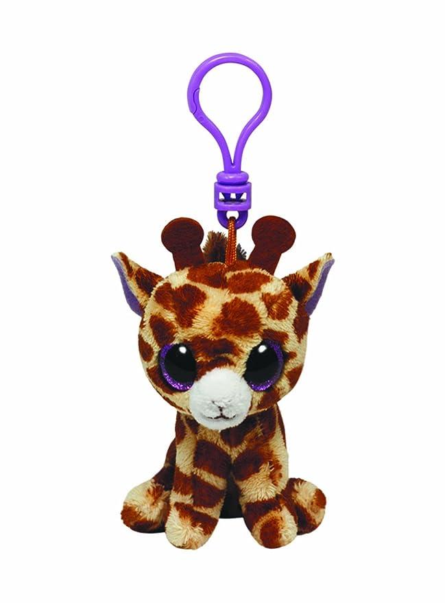 Ty Beanie Boos - Jirafa de Peluche Safari con Anilla - Peluche Llavero Beanie Jirafa 10cm, Juguet Peluche A Partir de 10 años