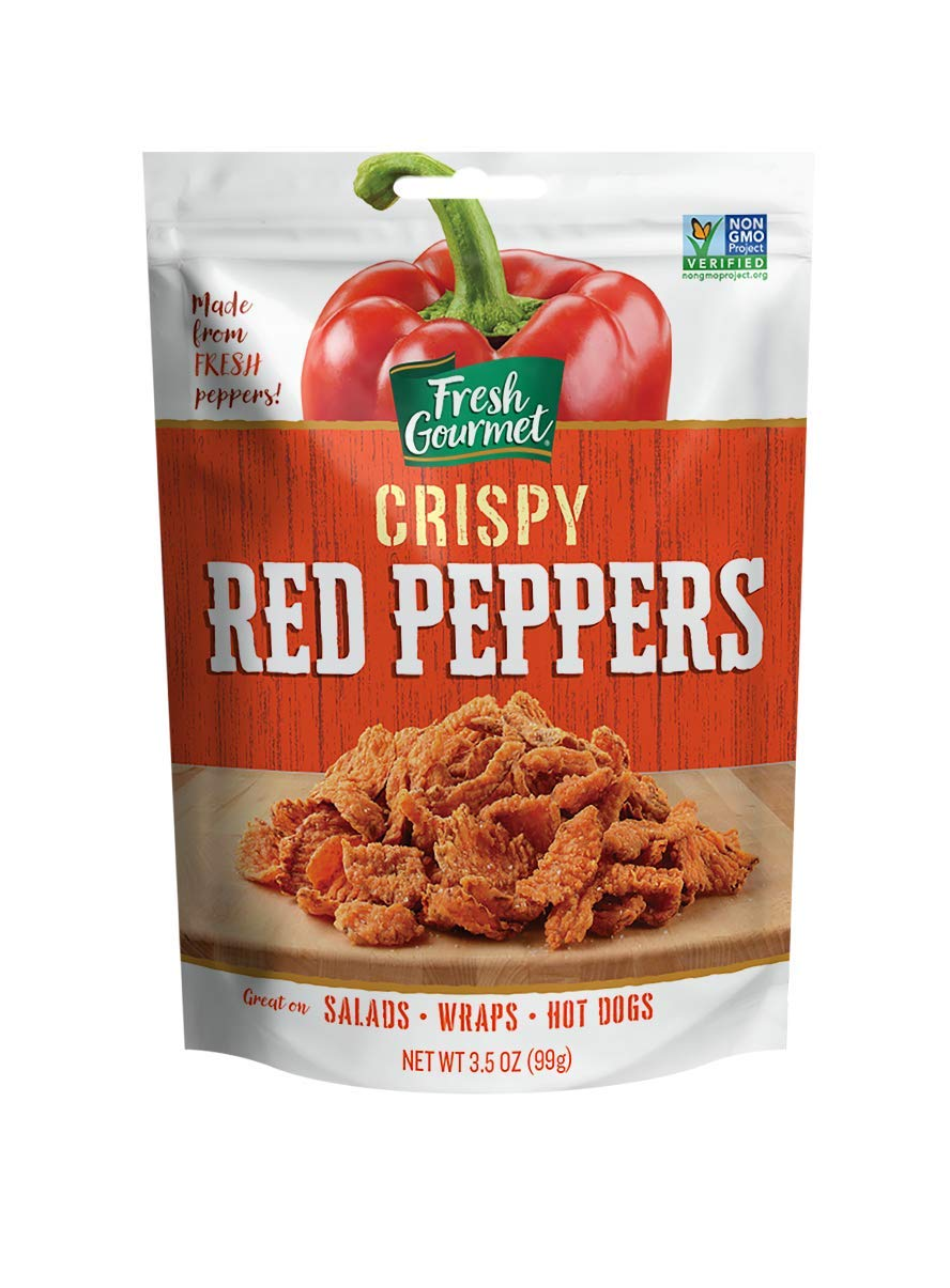 Fresh Gourmet Crispy Red Peppers, Lightly Salted, 3.5-Ounce (Pack of 6)
