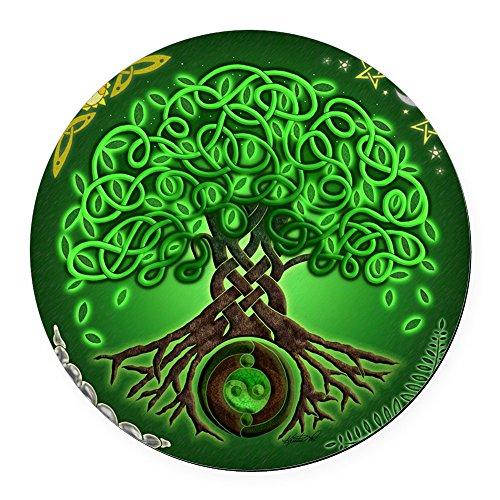 CafePress - Circle Celtic Tree of Life Round Car Magnet - Round Car Magnet, Magnetic Bumper Sticker