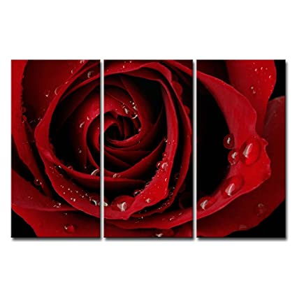 Amazon Com Canvas Print Wall Art Painting For Home Decor Front Red