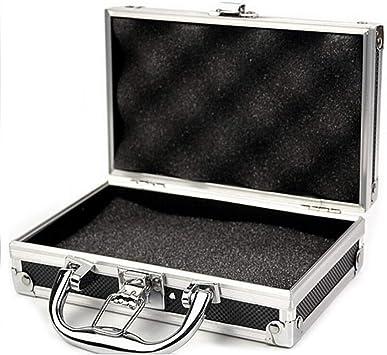 Willlly Mini Caja De Herramientas De Aluminio Para Vuelo Bolsa Chic De Almacenamiento Portátil Pequeña De