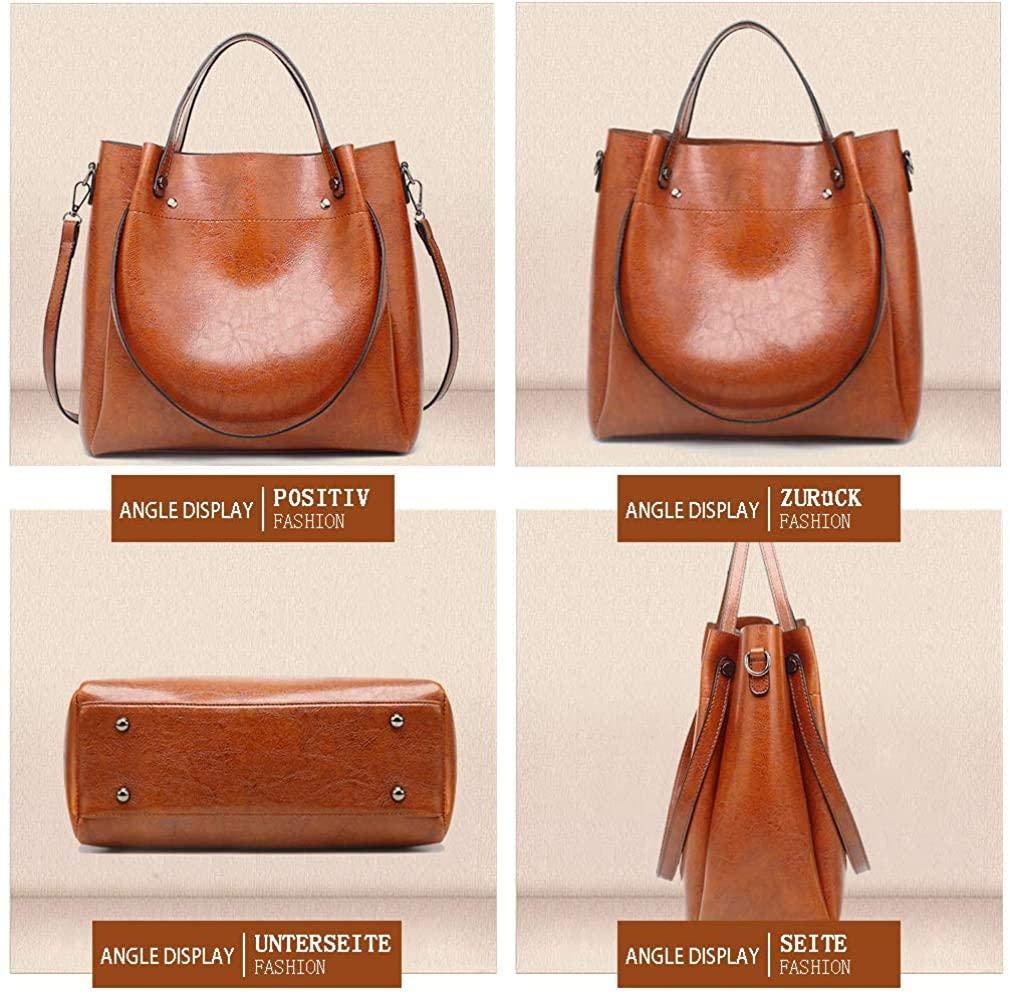 Regn damolja vax läder handväska axelväska enkel diagonal väska elegant topphandtag väska vintage axelväska, röd Kungsblå