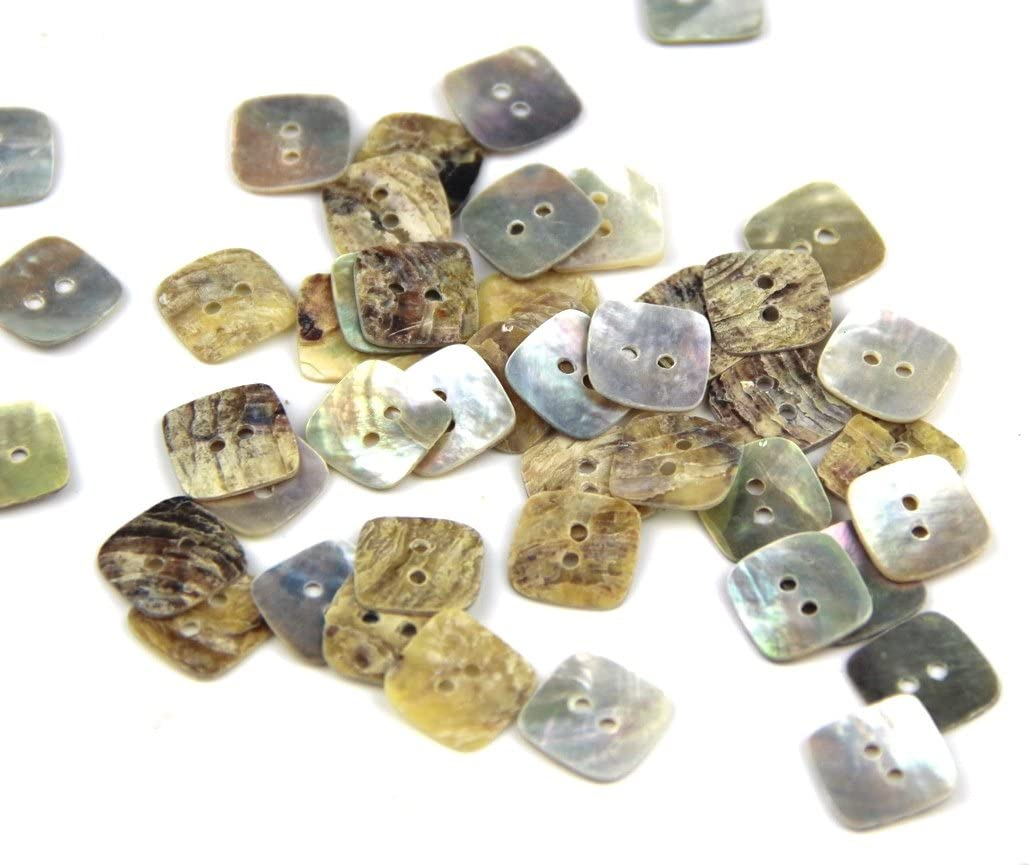 10 SQUARE  Shape Agoya//Mother of Pearl Buttons